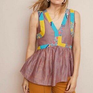 Anthropologie Anupamaa Mackenzie Floral Blouse